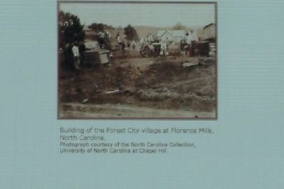 Building of the Forest City village at Florence Mills, North Carolina. image. Click for full size.