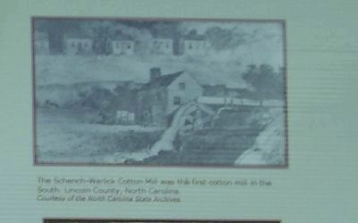 The Schench-Warlick Cotton Mill was the first cotton mill in the South. image. Click for full size.