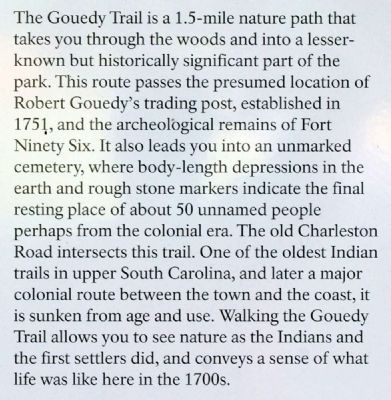 Gouedy Trail and Charleston Road Marker image. Click for full size.