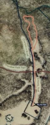 Map of the Gouedy Trail image. Click for full size.