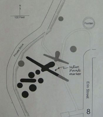 Map of Indian Mounds Marker Area image. Click for full size.
