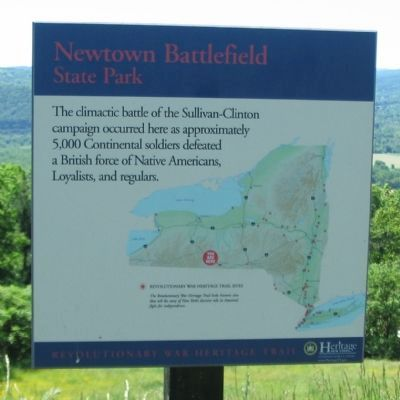 Newtown Battlefield State Park Marker image. Click for full size.