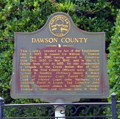Dawson County Marker image. Click for full size.
