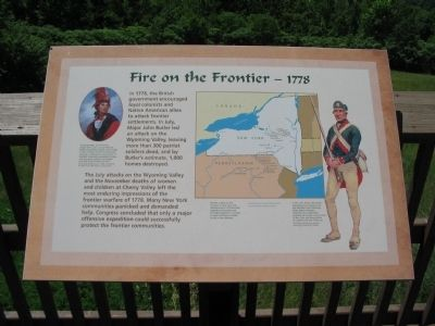 Fire on the Frontier - 1778 Marker image. Click for full size.