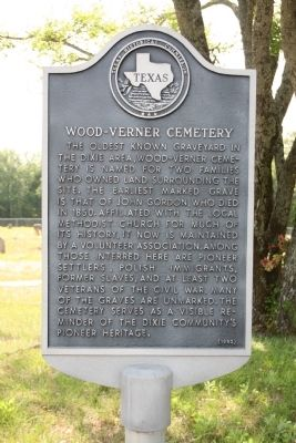 Wood-Verner Cemetery Marker image. Click for full size.