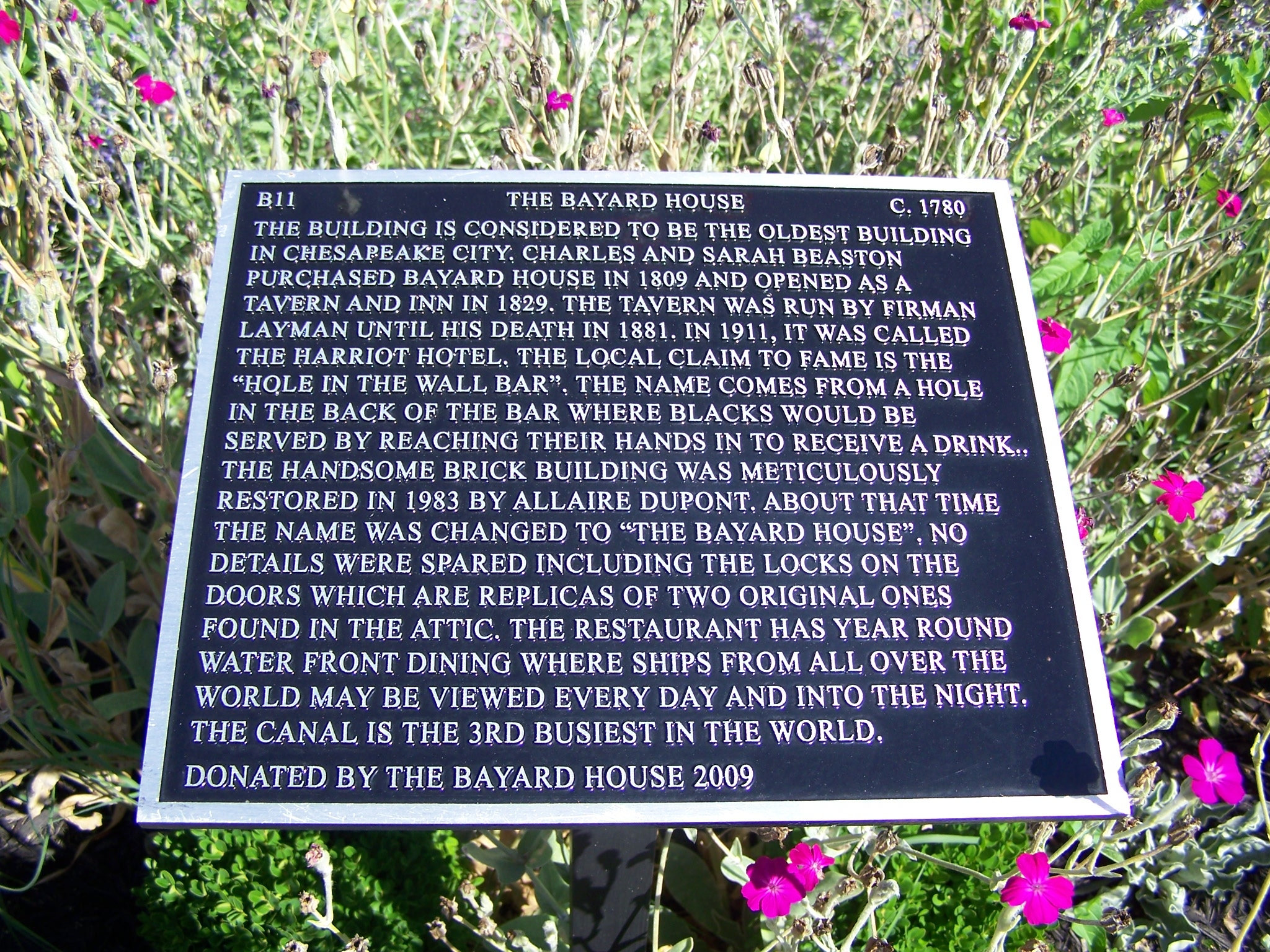 The Bayard House Marker