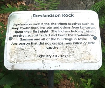 Rowlandson Rock Marker image. Click for full size.