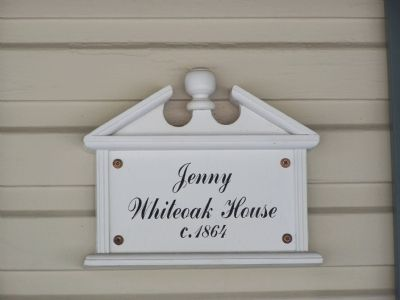 Jennie Whiteoak House Marker image. Click for full size.