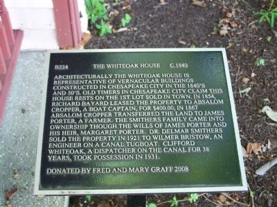The Whiteoak House Marker image. Click for full size.