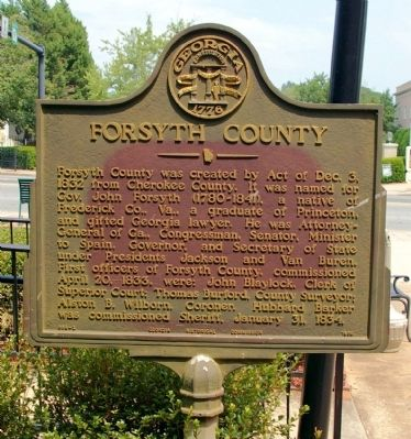 Forsyth County Marker image. Click for full size.