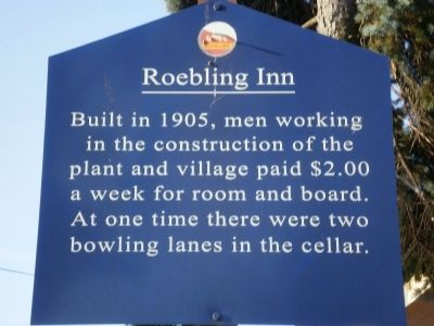 Roebling Inn Marker image. Click for full size.