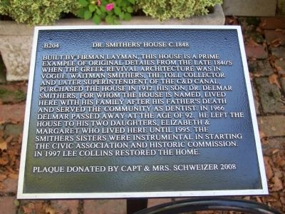 Dr. Smither's House Marker image. Click for full size.