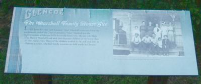 Glencoe - The Marshall Family House Site Marker image. Click for full size.