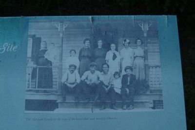 The Marshall Family on the steps of the house that once stood in Glencoe. image. Click for full size.