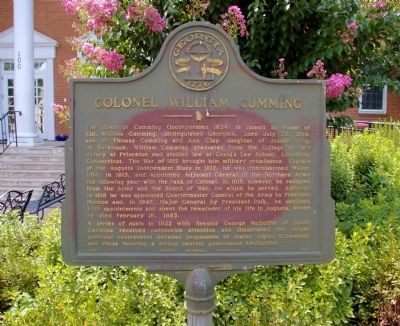 Colonel William Cumming Marker image. Click for full size.