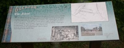 Glencoe - The School Marker image. Click for full size.