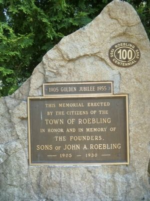 Town of Roebling Marker image. Click for full size.