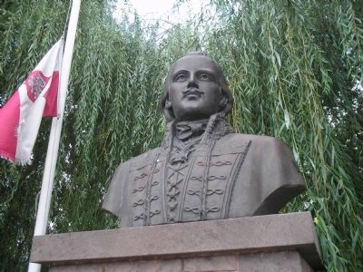 Closeup of General Casimir Pulaski image. Click for full size.