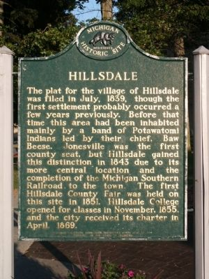 Hillsdale Marker image. Click for full size.