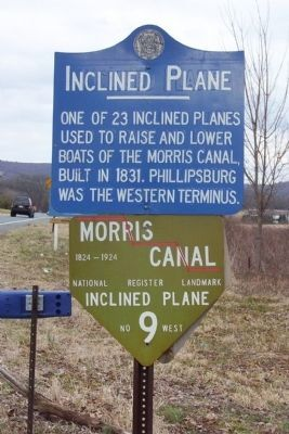 Inclined Plane / Morris Canal Inclined Plane No 9 West Marker image. Click for full size.