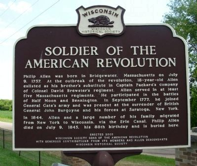 Soldier of The American Revolution Marker image. Click for full size.