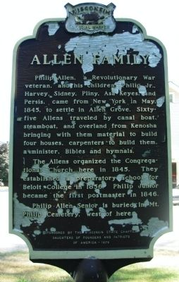 Allen Family Marker image. Click for full size.