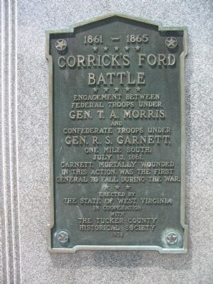 Corrick's Ford Battle Marker image. Click for full size.