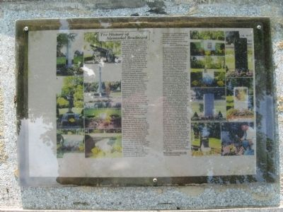 The History of Memorial Boulevard Marker image. Click for full size.