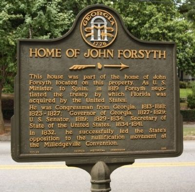 Home of John Forsyth Marker image. Click for full size.