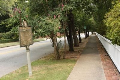 Home of John Forsyth Marker, looking north along Milledge Road image. Click for full size.