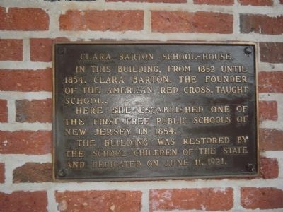 Clara Barton School-House Marker image. Click for full size.