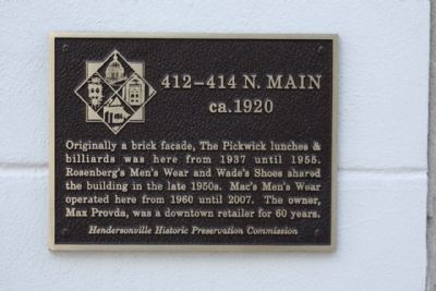 412-414 N. Main Marker image. Click for full size.