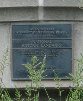 Science Hall National Historic Landmark Marker image. Click for full size.