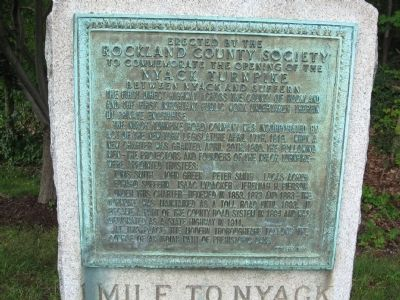 1 Mile To Nyack Marker image. Click for full size.