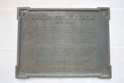 Amelia Gayle Gorgas Marker image. Click for full size.