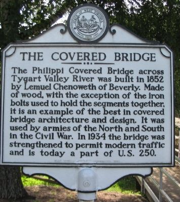 The Covered Bridge Marker image. Click for full size.