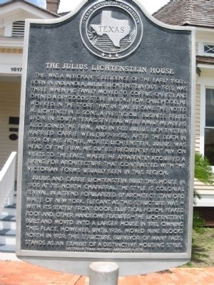 Julius Lichtenstein House Marker image. Click for full size.