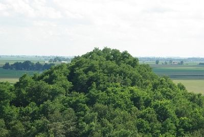 View of one jumbo (slag heap) from atop the other image. Click for full size.