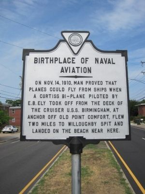 Birthplace of Naval Aviation Marker image. Click for full size.