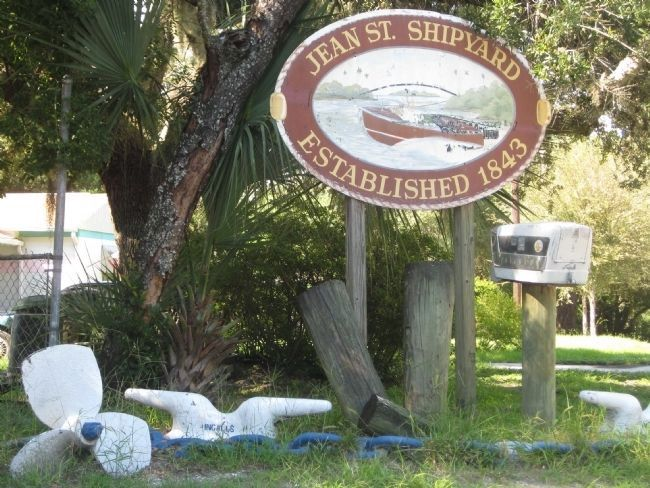Jean Street Shipyard Sign image. Click for full size.