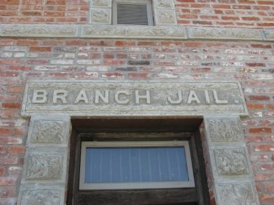 Jamestown Branch Jail - Above the Door image. Click for full size.