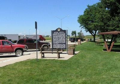 Wide view of the Historic Grinnell Marker image. Click for full size.