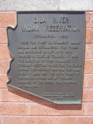 Gila River Indian Reservation Marker image. Click for full size.