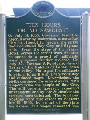 """Ten Hours or No Sawdust"" Marker - Side 2 image. Click for full size."