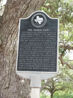 The Urrea Oaks Marker image. Click for full size.