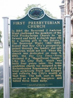 First Presbyterian Church Marker - Side 2 image. Click for full size.