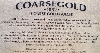 Coarsegold Marker image. Click for full size.