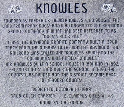 Knowles Marker image. Click for full size.