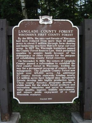 Langlade County Forest Marker image. Click for full size.