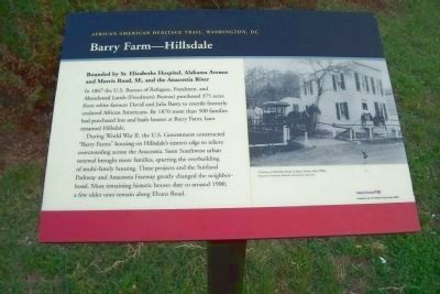 Barry Farm - Hillsdale Marker image. Click for full size.